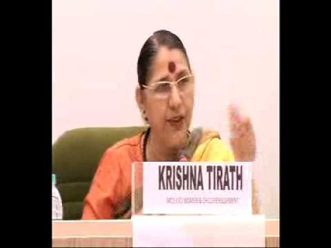 Smt. Krishna Tirath , WCD Minister addresses National Editors' Conference-Part2