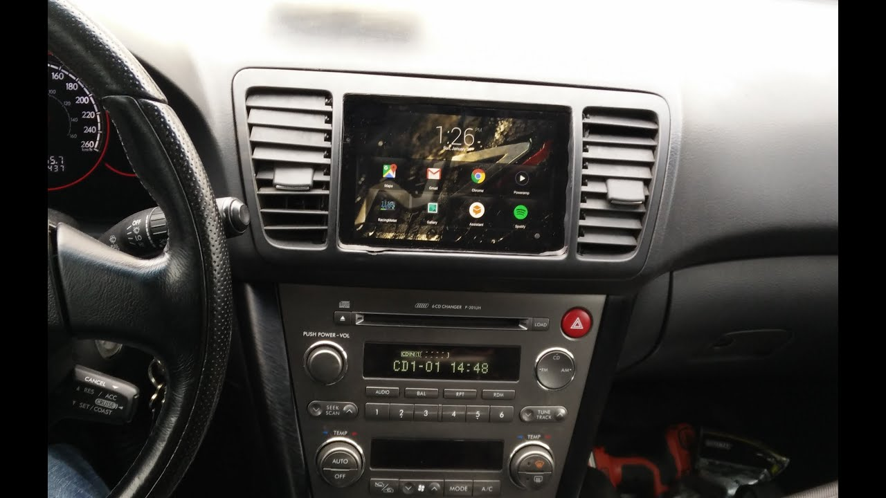 In car nexus 7 android tablet install 2005 subaru legacy gt youtube