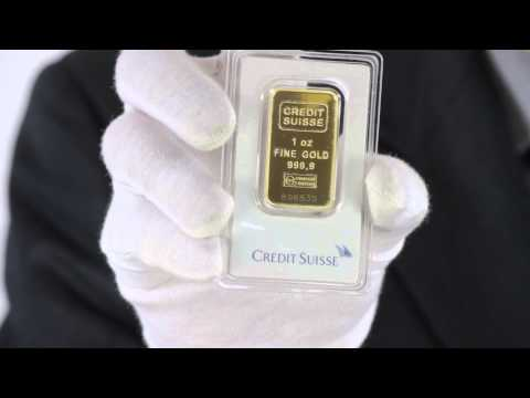 1 oz. Credit Suisse Gold Bar .9999 FIne