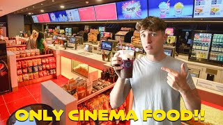 I ONLY ATE CINEMA FOOD FOR 24 HOURS!!