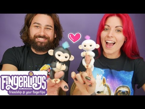 FINGERLINGS! Unboxing New Fun Monkey Toys by Wowwee