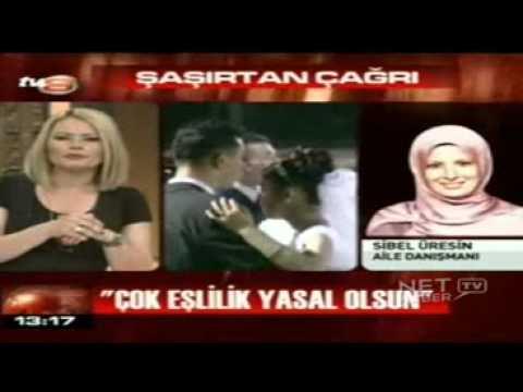 Cok Esliligi Savunan  AKP ÜYESI Sibel Üresin'e Canli Yayinda Sok