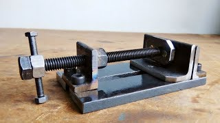 Make A Metal Mini Drill Vise || DIY HomeMade Tool