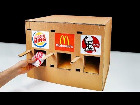 DIY How to Make KFC McDonald's and Burger King Vending Machine