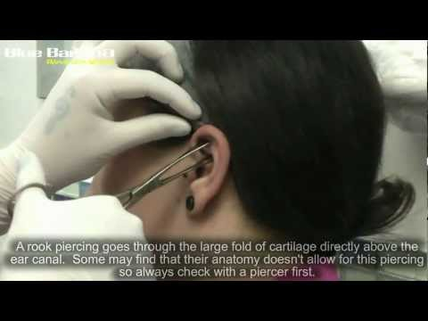 Rook Piercing: How to Get Ear Piercings With Blue Banana