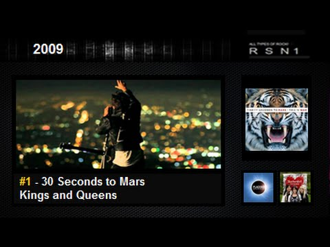 2009 - Top 30 - The Best Rock / Alternative Songs klip izle