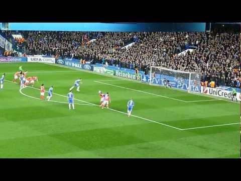 Chelsea vs. Benfica - Championsleague 2012, Frank Lampard trifft zum 1-0