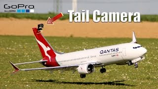 RC Boeing 737 MAX8 GoPro full flight tail view