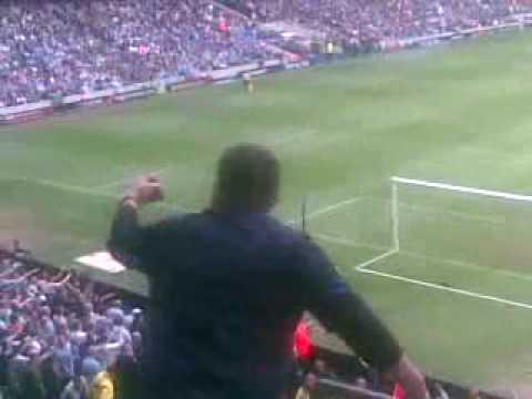 Manchester City Vs Blackburn Rovers penalty, then rude football fan taunts rivals.