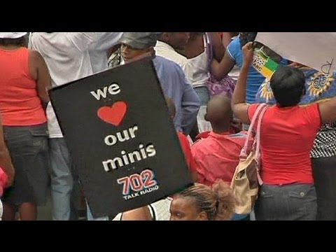 Minis on the march in Johannesburg protest