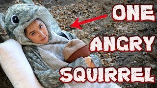 ANGRY GIANT SQUIRREL TAKES MY NUT!!