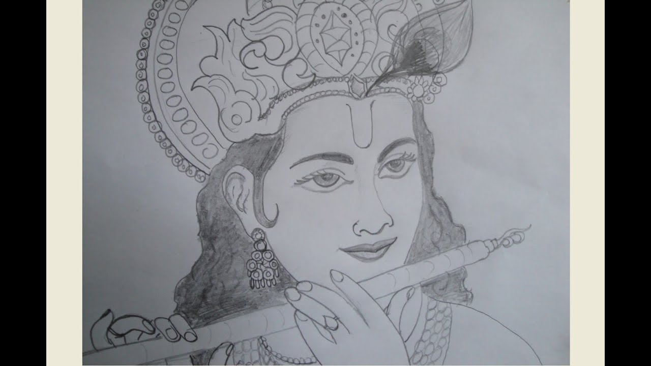 Easy Pencil Drawings Of Lord Krishna | www.imgkid.com ...