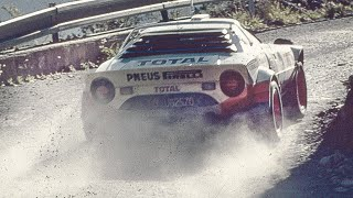 Lancia Stratos supercar with pure engine sounds