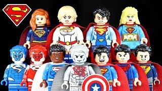 Superman Supergirl  Superwoman Powergirl Unofficial LEGO Minifigures