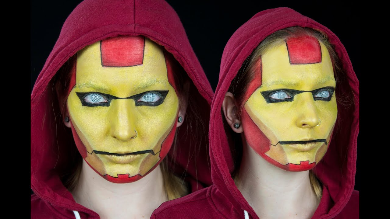 Iron Man Face Paint Easy Iron Man Face Paint
