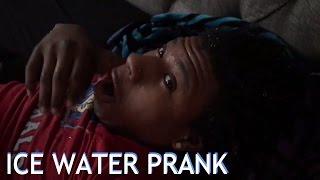 ICE WATER PRANK ON BOYFRIEND!!!!