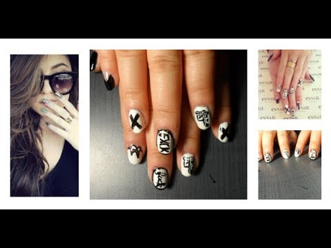 Black And White Gun Nails