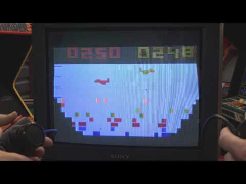 Classic Game Room - CANYON BOMBER review for Atari 2600