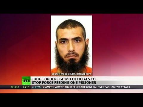 Judge halts force-feeding of Gitmo detainee