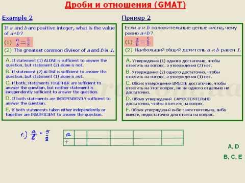 Видеоурок  для подготовки  к GMAT