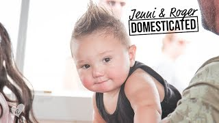 GREYSON, THE CHILLEST BABY IN THE WORLD | Jenni & Roger: Domesticated | Awestruck