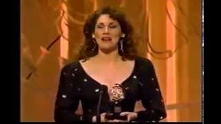 Randy Graff wins 1990 Tony Award for Best Featured Actress in a Musical