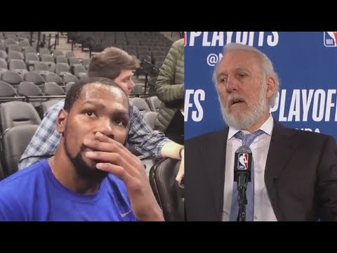 Kevin Durant Shocked After Hearing Gregg Popovich's Wife Has Died!