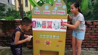Trò Chơi Đi Siêu Thi Vs Máy bán hàng Tự Động - Bé Nhím TV - Đồ Chơi Trẻ Em