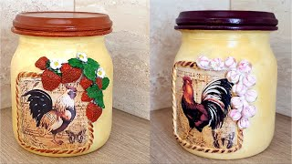 Diy / Glass jars Decoration / Kitchen decor idea