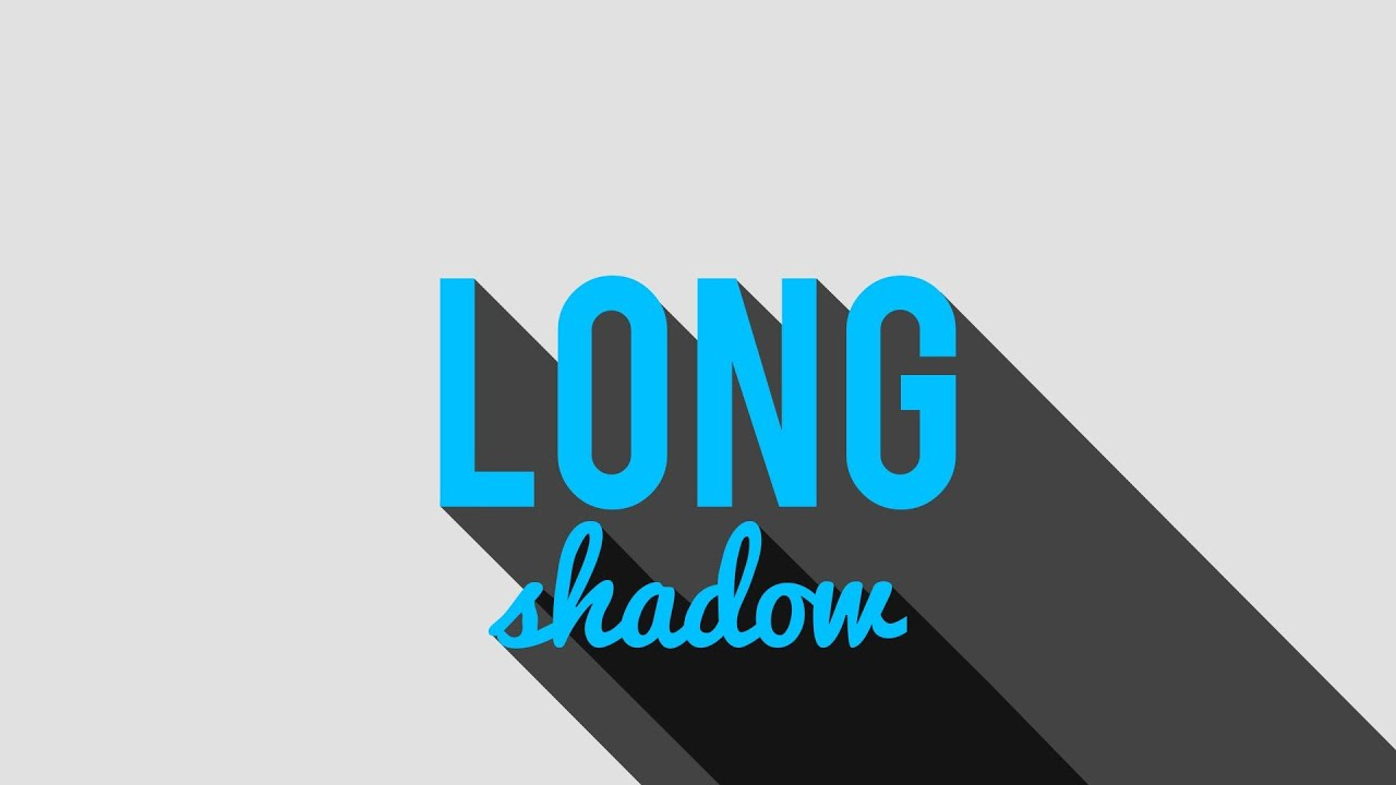 create the long shadow effect photoshop tutorial youtube