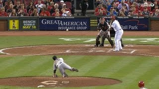 Lincecum slips while throwing a pitch