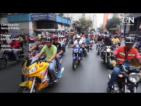 Motorizados realizaron Caravana por la paz.