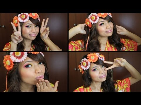 Hippie Flower Child Halloween Makeup Tutorial