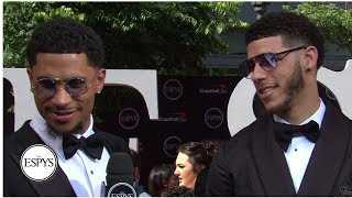 Lonzo Ball and Josh Hart comment on Zion Williamson's summer league debut | 2019 ESPYS