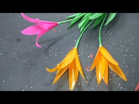 Kreasi Bunga Dari Sedotan. DIY
