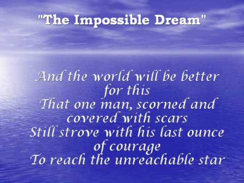 Rauball sings quot the impossible dream quot youtube