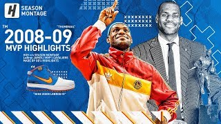 LeBron James BEST MVP Highlights & Moments from 2008-09 NBA Season! UNREAL Plays, Total Domination!