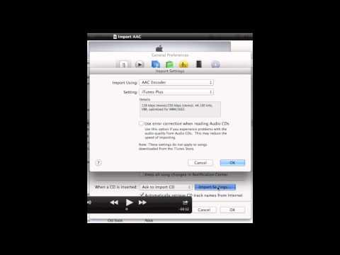 How to Setup iTunes AAC Encoder Create AAC Version