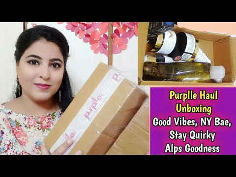Purplle HAUL Unboxing | Good Vibes, NY Bae, Stay Quirky, Alps Goodness || Skincare & Makeup