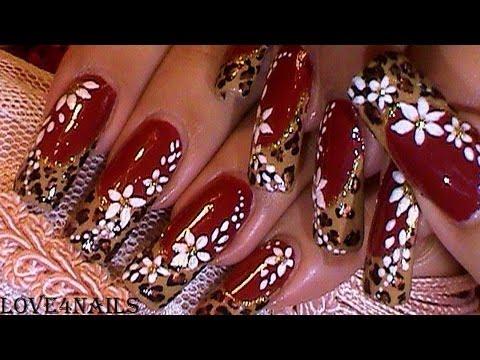 Leopard Rouge Nails