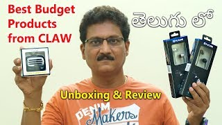 Best Budget Products from CLAW   Unboxing & Review in Telugu...