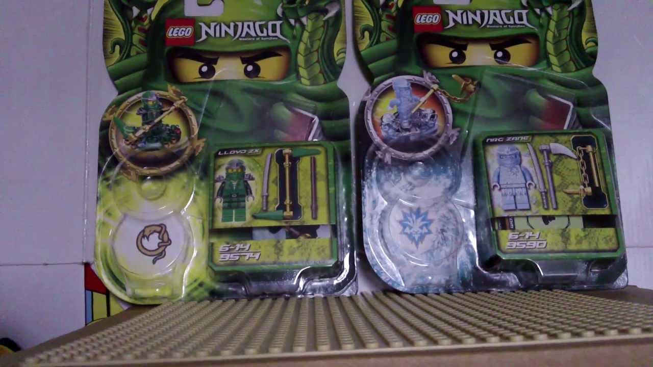 lego ninjago lloyd zx + nrg zane spinners review - YouTube