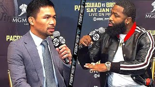 """ADRIEN BRONER TELLS MANNY PACQUIAO """"IM ABOUT TO BEAT YO ****, DONT WORRY ABOUT FLOYD!"""""""