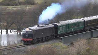 Loco A39 crosses River Quoile at Downpatrick - 30th March