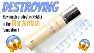 THE MAKEUP BREAKUP - How much foundation is REALLY in the Dior Airflash? Destroying Makeup