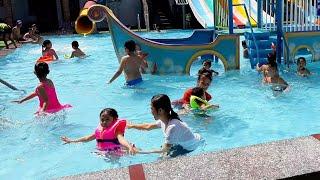 Trò chơi bé đi tắm bể bơi, bé tập bơi . SuBoy kids. Trò chơi trẻ em.