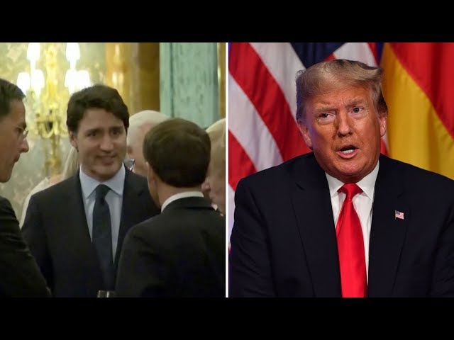 Justin Trudeau comments caught on camera triggers 39two-faced39 response from Donald Trump