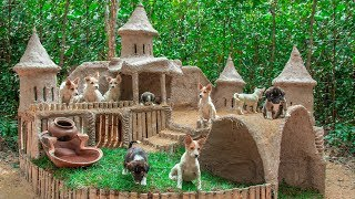 Collect abandoned Dog and Build Mud Dog House