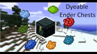 Dye-Coded Ender Chests -- Vanilla Minecraft 1.9 Command Blocks