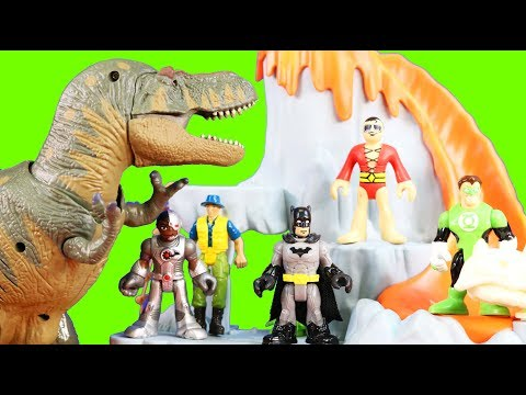 Imaginext Justice League And Batman Rescue Explorer From Terra T-Rex Dinosaur Playset